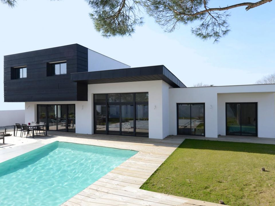 architecture toit plat en zinc de maison d'architectes toulouse