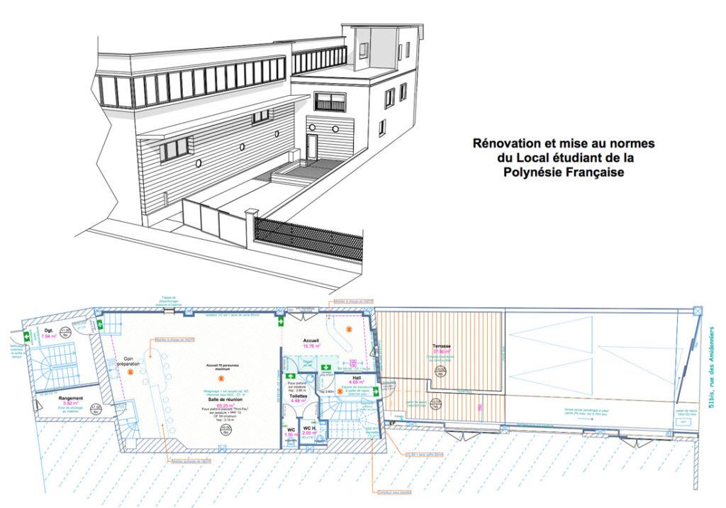 bm ingenierie architectes toulouse aepf renovation local bm ingenierie. Black Bedroom Furniture Sets. Home Design Ideas